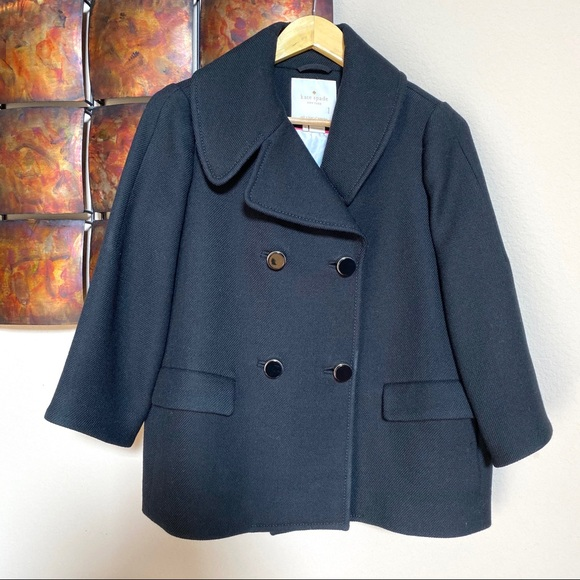 Kate Spade Rare Jaques Double Breasted Peacoat